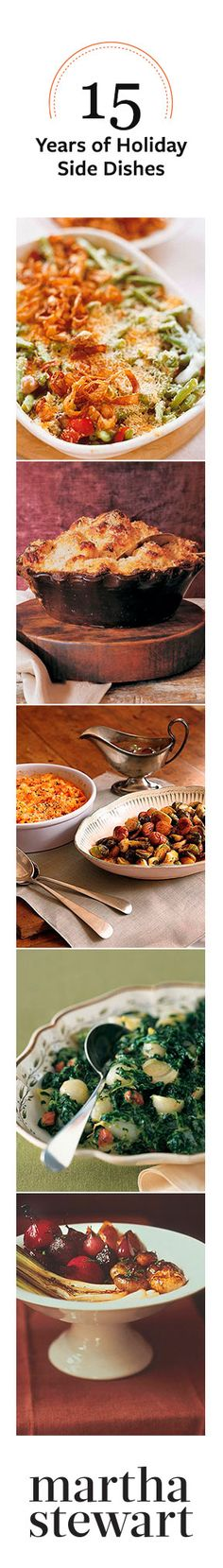 15 Years of Holiday Side Dishes from Martha Stewart