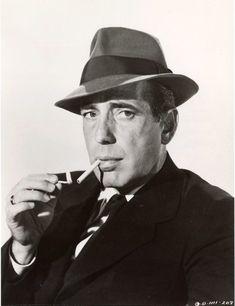 "Humphrey Bogart (1899-1957)  ""Here's lookin' at you kid"""