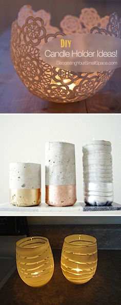Creative DIY Candle Holders - Great Ideas & Tutorials!