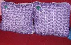 Beautiful cushions made with soda tabs.