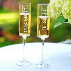 Personalized Champagne Flute (Set of 2)