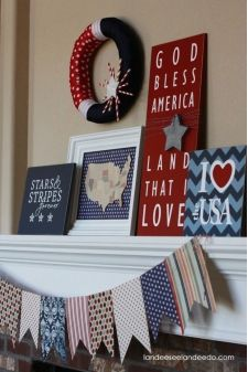 DIY Fourth of July Decor Ideas - Red, White, & Blue