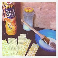 """Pringle can turned into spaghetti """"jar"""""""