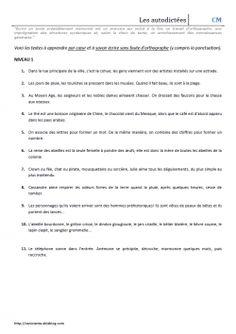 Autodictées - CM1/CM2