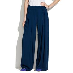 See By Chloé® Crinkled High-Waisted Wide-Leg Pants