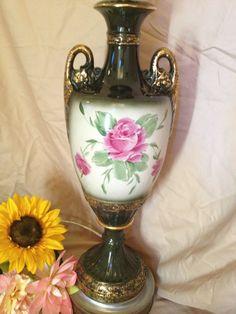 Vintage green china flower lamp. $38.00, via Etsy. www.etsy.com/shop/shabbyciccalifinds china flower, flower lamp