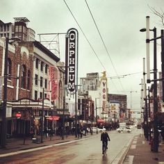 Granville Street on a rainy day in #Vancouver. Photo by @sengstagram #explorebc