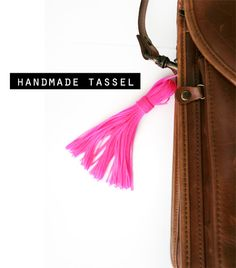 leather bag + handmade tassel