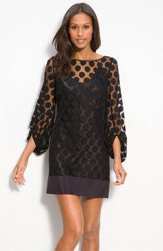 Polka Dot Lace Shift Dress