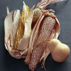 Glittered corn centerpiece