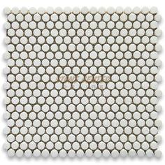round marble mosiac tile green
