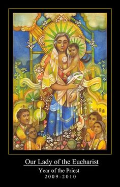 Madonna and Child (Our Lady of the Eucharist) by Filipino artist Ryan Carreon Aragon