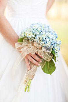 Blue Hydrangea Wedding Bouquet for an elegant country Kentucky wedding