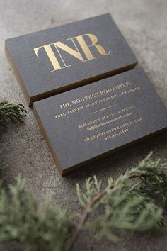 Black with Gold business card