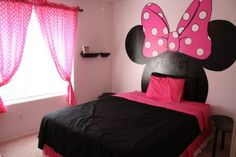 Disney Minnie mouse decor room idea. Be great for a guest room