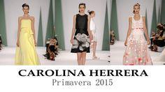 Carolina Herrera y su desfile primavera verano 2015 en la pasarela de Nueva York #vestidosdefiesta #tendencias #moda #diseño #CarolinaHerrera #NY