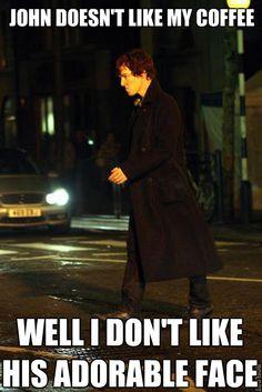 Pouty Sherlock.