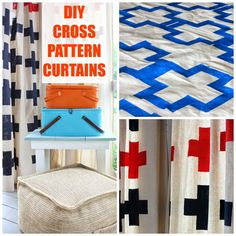 DIY Cross Pattern Porch Curtains | Hymns and Verses #porch #diy