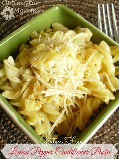 Gluten Free Lemon Pepper Cauliflower Pasta Recipe