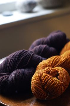 plum & persimmon sock yarn. Beautiful color combo!