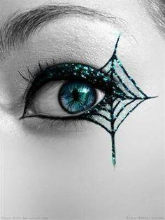 mywebroom.com halloween makeup art spiderweb eye makeup  #halloween makeup #halloween art #halloween #makeup #costume makeup #costume #costume ideas #makeup ideas #scary makeup #halloween ideas #easy costume #diy costume #inspiration #face paint #gorgeous makeup #halloween makeup art