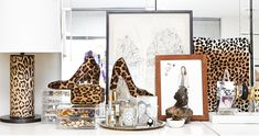 """Leopard is where it's at! It's a timeless classic in both fashion and interiors."" http://www.thecoveteur.com/michelle-adams/"
