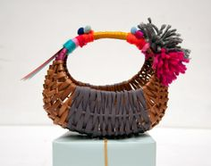DIY FolkArt Gift Baskets by Handmade Charlotte - Up-cycled baskets from tag sales and thrift stores!