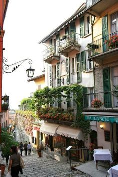 Balconies, Bellagio, Italy ♥ ♥ www.paintingyouwithwords.com interior, dream places, balcony design, balconies, little italy, lake como, travel, walk, summer paradise