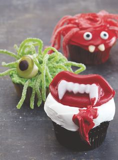 www.bulkcandystore.com Decorate your Spooky Cupcakes with Cost Plus World Market's Creepy Halloween Candy  #WorldMarket Halloween #halloweentreats #halloweenbaking