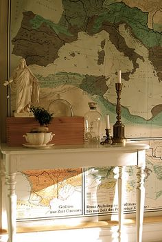 I have an old school map. But not really any room for it. I wish I had.