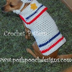 dog cloth, sailor sweater, small dogs, dog sweaters, dog s2small2, crochet dog, crochet pattern