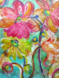 Summer Breeze: colorful and whimsical watercolor print