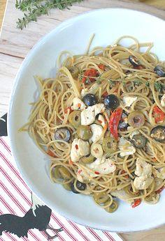 Get this chicken & olive pasta recipe...