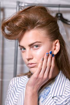 The Best Spring Nail Trends To Try Now: Flashes of Metallics Dat hair......