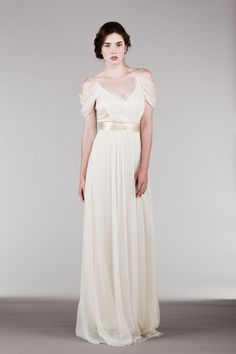 off the shoulder wedding dress | Bridal Musings Wedding Blog