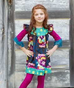 Another great find on #zulily! Secret Garden Lily Love Dress - Infant, Toddler & Girls by Swanky Baby Vintage #zulilyfinds