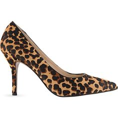 NINE WEST | Flax5 leopard print courts | Upper: ponyskin leather.  Lining & outsole- other materials | Heel height: 3.5"