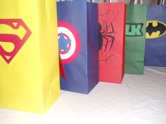 Superhero Goodie Bags. $12.00, via Etsy.