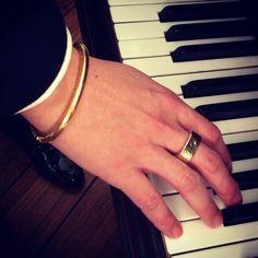 Men Gold Bracelet & Ring