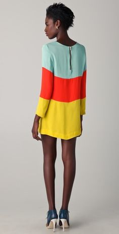 color block frock
