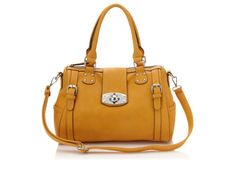 lock satchel, fashion, purs, doubl handl, accessori, locks, closet, bags, mustard yellow