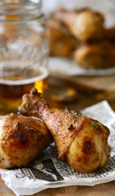 Spiced Chicken Drumsticks with Brown Sugar and Jalapenos