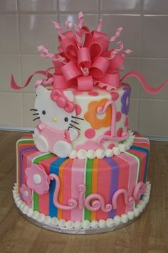 Hello Kitty Cake! I know a lot of little girls would love to have this cake for their birthday parties. My only complaint is that it is not pink enough.