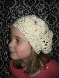 English Rose Hat by ForgetMeKnotsCrochet on Etsy, $25.00