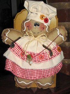 Achados da net  { Ginger } by Rosi Patchwork & Quilting, via Flickr gingerbread girl, doll, gingerbread ladi, gingerbread men, natal, patchwork quilting, gingers, christma craft, boneca