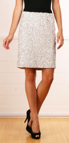 Lanvin sequined skirt