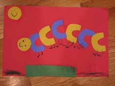 classroom, idea, preschool craft, alphabet, educ, letters, caterpillar craft, kid, crafts
