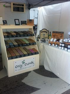Cozy Clover Booth at Cary Lazy Daze Festival and Craft Fair. All natural soap and skin care. #crafts #soap