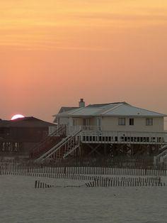 Sunset On Beach House - Fort Morgan, Alabama