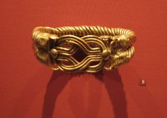 Bracelet with Spirally Twisted Stands and a Herakles Knot at the Bezel  Gold, 2nd century AD  Said to be from Lower Egypt bangl bracelet